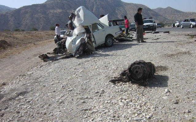 تصادف در محور قائمیه نورآباد مم سنی (8)