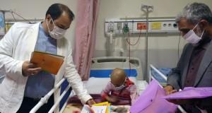 عکس نوشت /لبخند کودکان سرطانی شیراز به یار مهربان !
